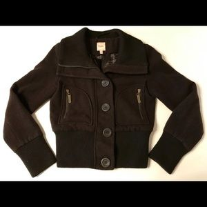Candie's Leather Bomber Motorcycle Jacket Med